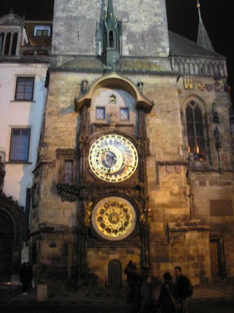 "The Astronomical Clock is a medieval clock located in the southern wall of the old city hall in Prague. The clock  is composed of three main components: the astronomical dial, representing the position of the Sun and Moon in the sky and displaying various astronomical details; ""The Walk of the ..."