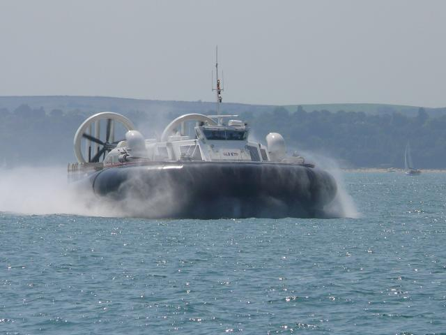 This hovercraft operates between Southsea and The Isle Of Wight.