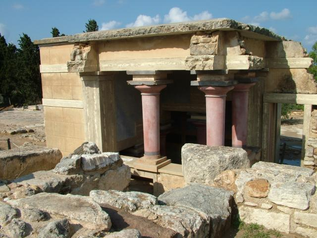 The Palace of Knossos is situated a few miles to the south of the modern day city of Heraklion. In Minoan times it was a major settlement of the Minoan civilization and probably the political and cultural centre of that civilization. It has long been associated with the myth of Theseus and the Minot...
