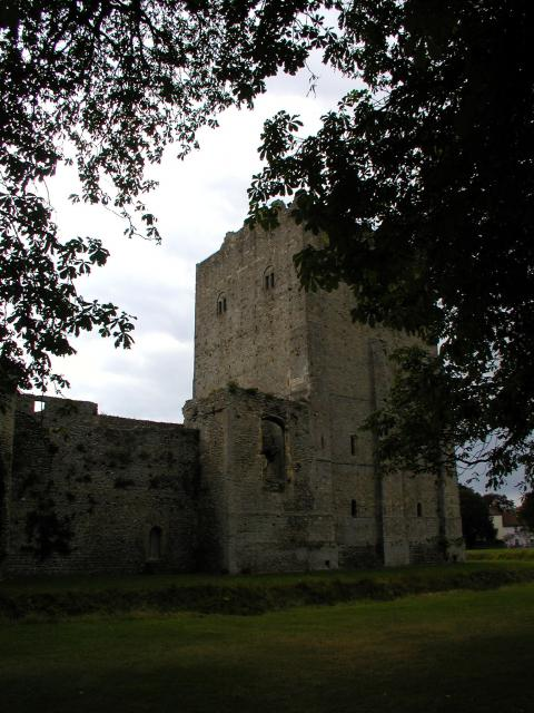 Portchester Castle, Portchester Hampshire.  The location of a magnificent Roman fortification on the waterfront with a Norman Castle within the Roman walls.