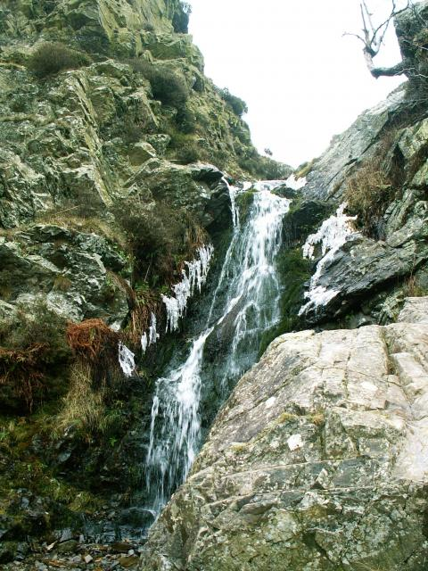 Light Spout waterfall in the Cardingmill Valley, Church Stretton, Shropshire.