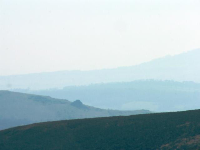 Shropshire Hills viewed from the Long Mynd, west of Church Stretton, Shropshire