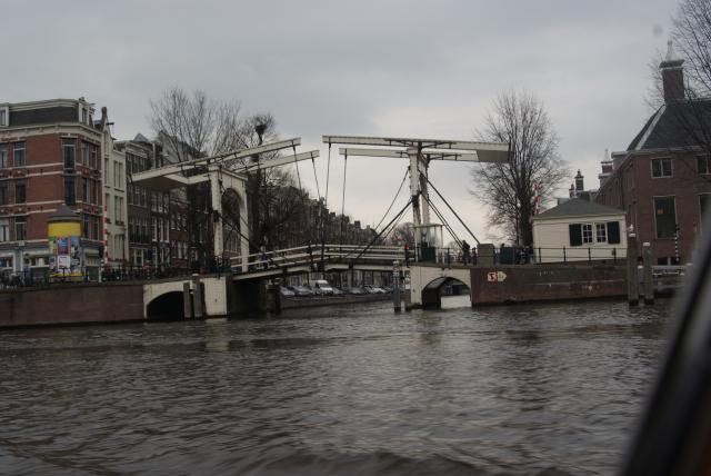 Bridge over an Amsterdam canal.