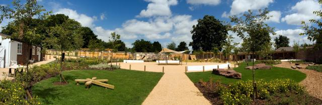 This area includes a children's play area, medicinal and world gardens, Bee Gallery and cafe.