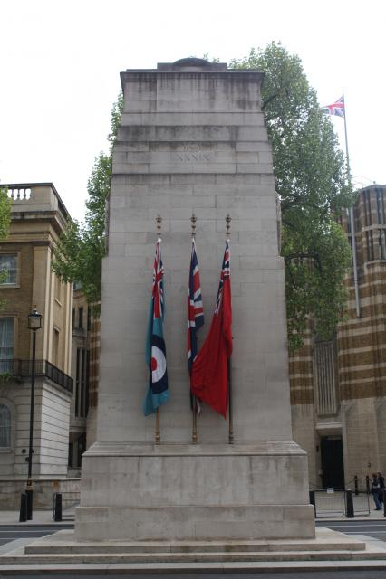 Probably the best-known war memorial in the world is the Cenotaph which stands in Whitehall, London. It was designed by Sir Edwin Lutyens and constructed from Portland stone between 1919 and 1920 by Holland, Hannen & Cubitts. It replaced Lutyens's identical wood-and-plaster cenotaph erected in 1...