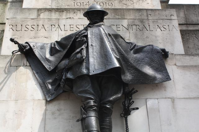 The Royal Artillery Memorial is a stone memorial at Hyde Park Corner in London dedicated to casualties in the British Royal Regiment of Artillery in World War I.