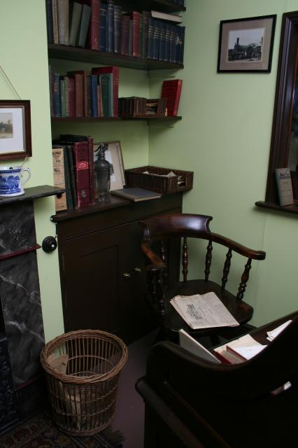 The Colonel's original Victorian office chair (Courtesy of the Colonel Stephens Museum, Tenterden)