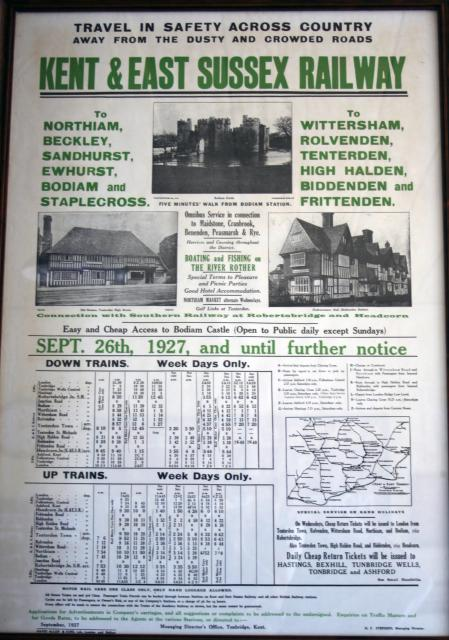 A 1927 timetable of the Kent and East Sussex Railway. (Courtesy of the Colonel Stephens Museum, Tenterden)