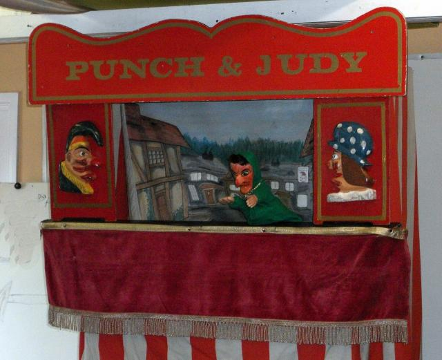 Punch and Judy, a popular Victorian entertainment  (at the Kent and East Sussex Railway)