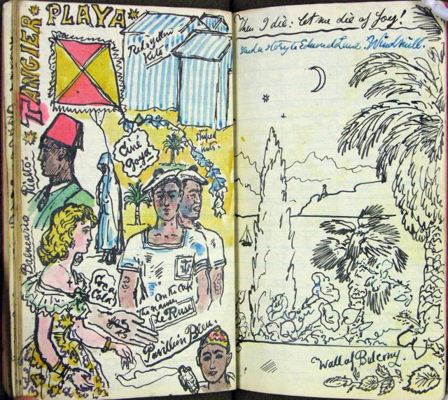 This illustrated diary by Stephen Tennant (1906–1987), a friend of the photographer Cecil Beaton, records a holiday in Gibraltar, Morocco and Tangier in 1948.