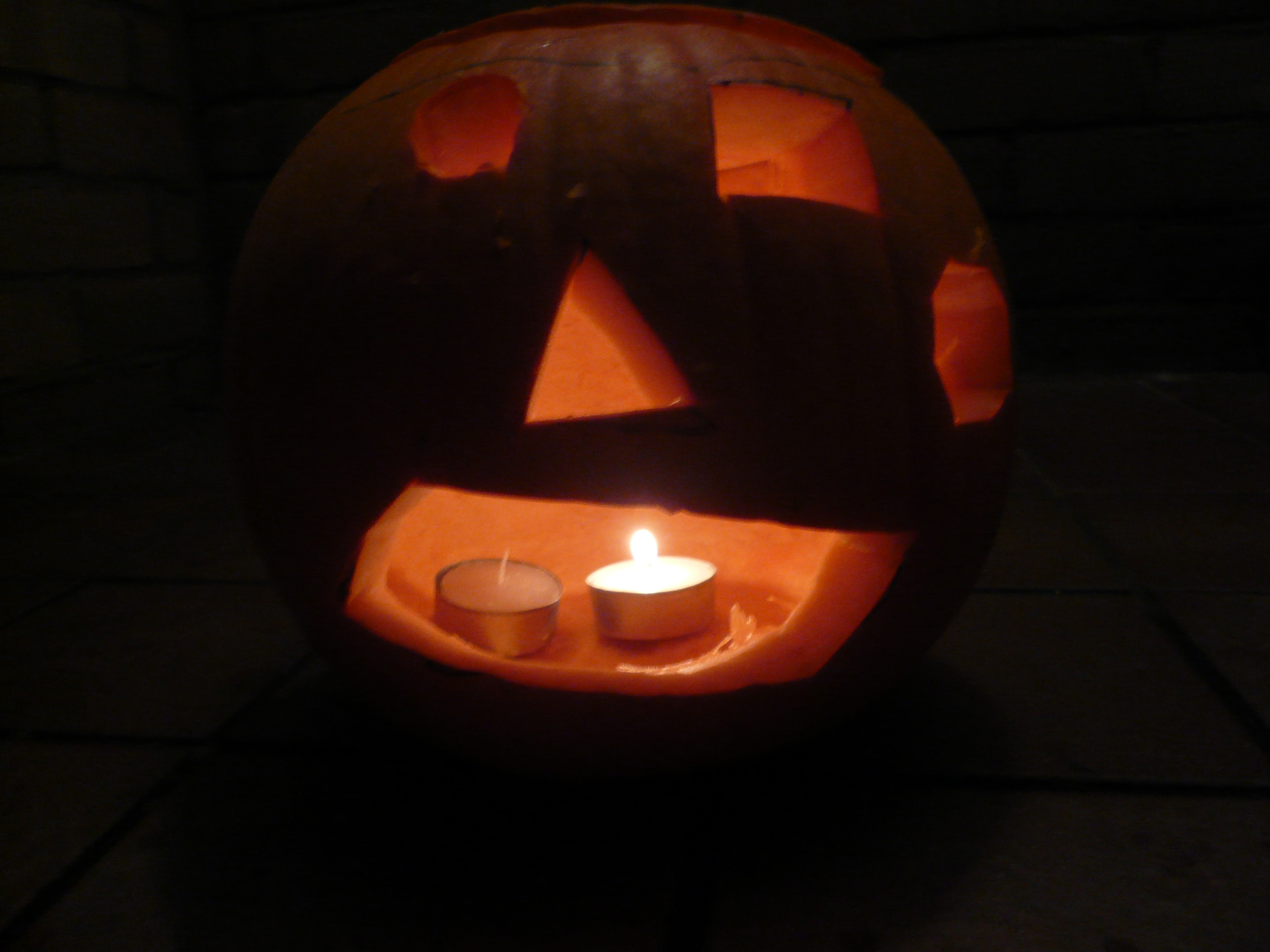 Pumpkins are traditionally carved into lanterns on All Souls Day (Hallowe'en) to ward off spirits.
