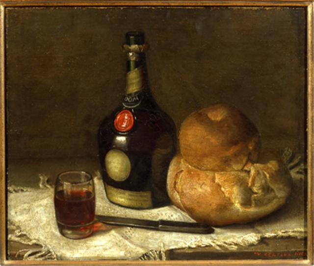 Mark Gertler, Still Life with a Bottle of Benedictine