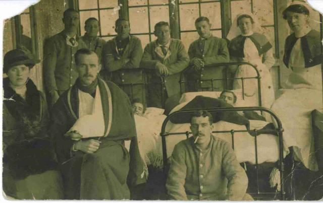 British soldiers in French convalescent hospital during WW1.