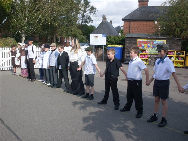 The children at Wickhambreaux Primary School played Red Rover, Red Rover, Stuck in the Mud and Bulldog at break time.