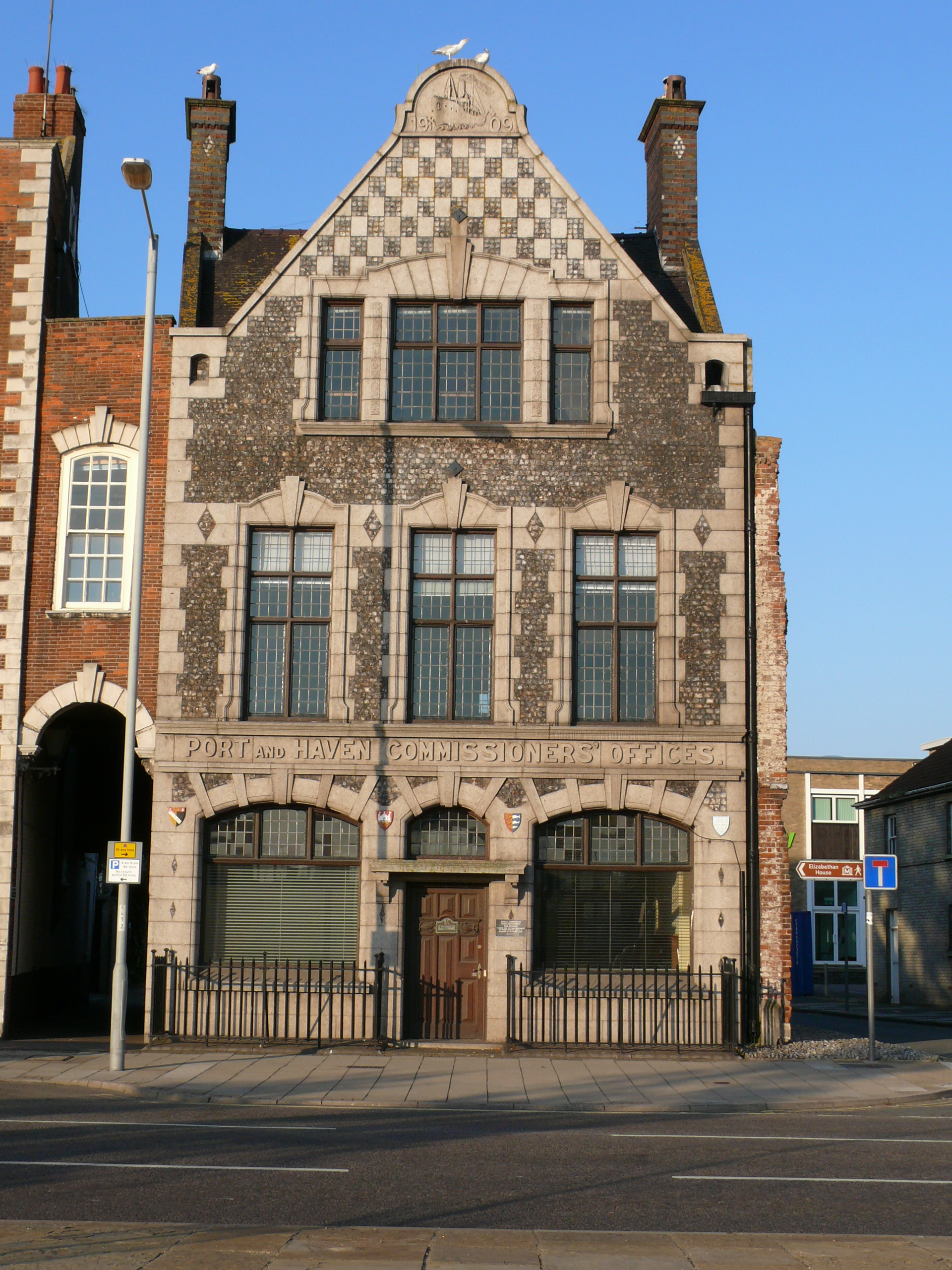 These port offices were built in 1909 and the building is grade 2 listed.