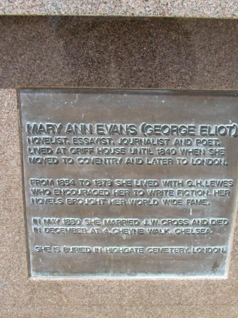 Mary Ann Evans was a Victorian novelist who wrote under the name of George Eliot. She used a male pen name to ensure her works were taken seriously. She was born in Nuneaton, Warwickshire in 1819 and died in London in 1880.