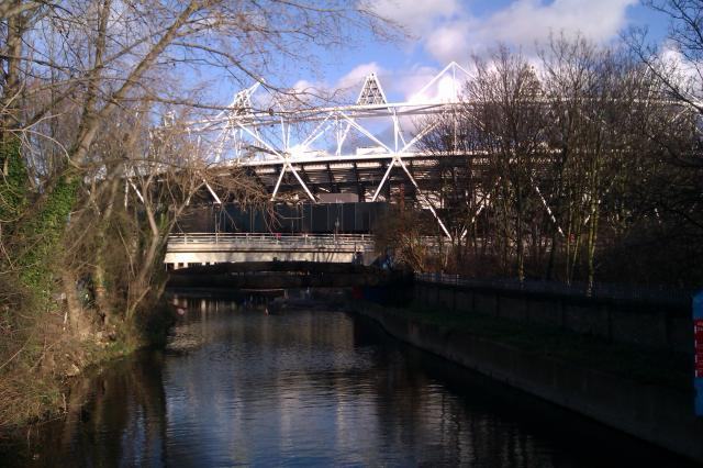 Olympic Stadium from the canal
