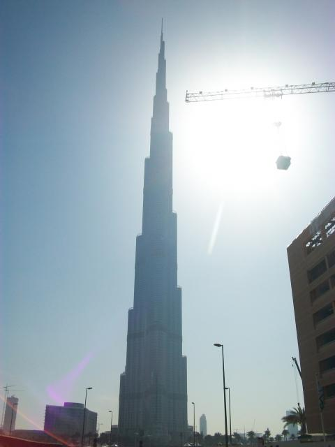 The Burj Khalifa is a skyscraper in Dubai, United Arab Emirates, and is currently the tallest manmade structure in the world, at 829.84 m (2,723 ft).