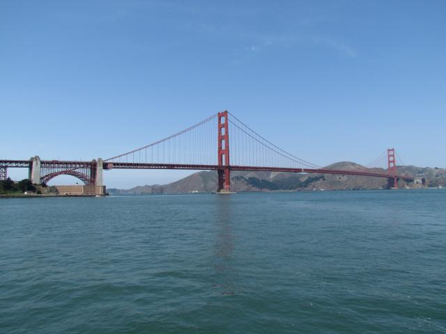 The Golden Gate Bridge was completed in 1937 and at that time had the longest suspension bridge main span in the world, at 4,200 feet (1,280.2 m). 