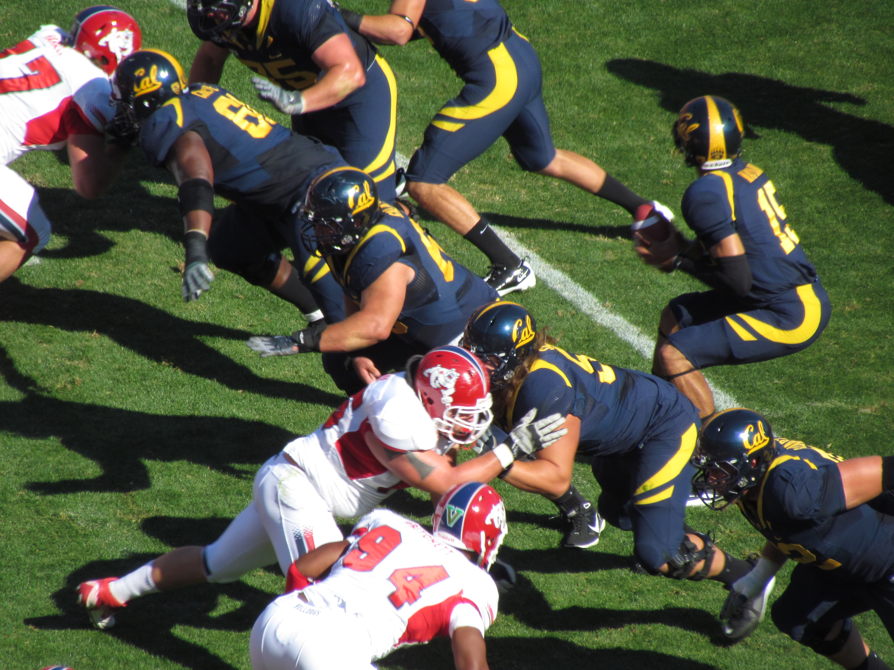 California Golden Bears vs Fresno State Bulldogs at Candlestick Park, San Francisco.