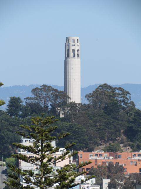 Coit Tower was funded by a donation in the will of Lillie Coit. It was completed in 1933. The tower, which stands at the top of Telegraph Hill in San Francisco's Pioneer Park, offers fantastic views of San Francisco.