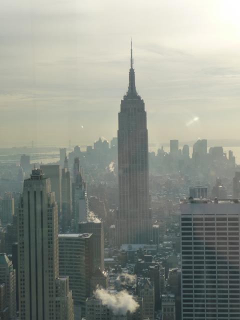 This photo was taken from the top of the Rockefeller Centre in New York City,U.S.A