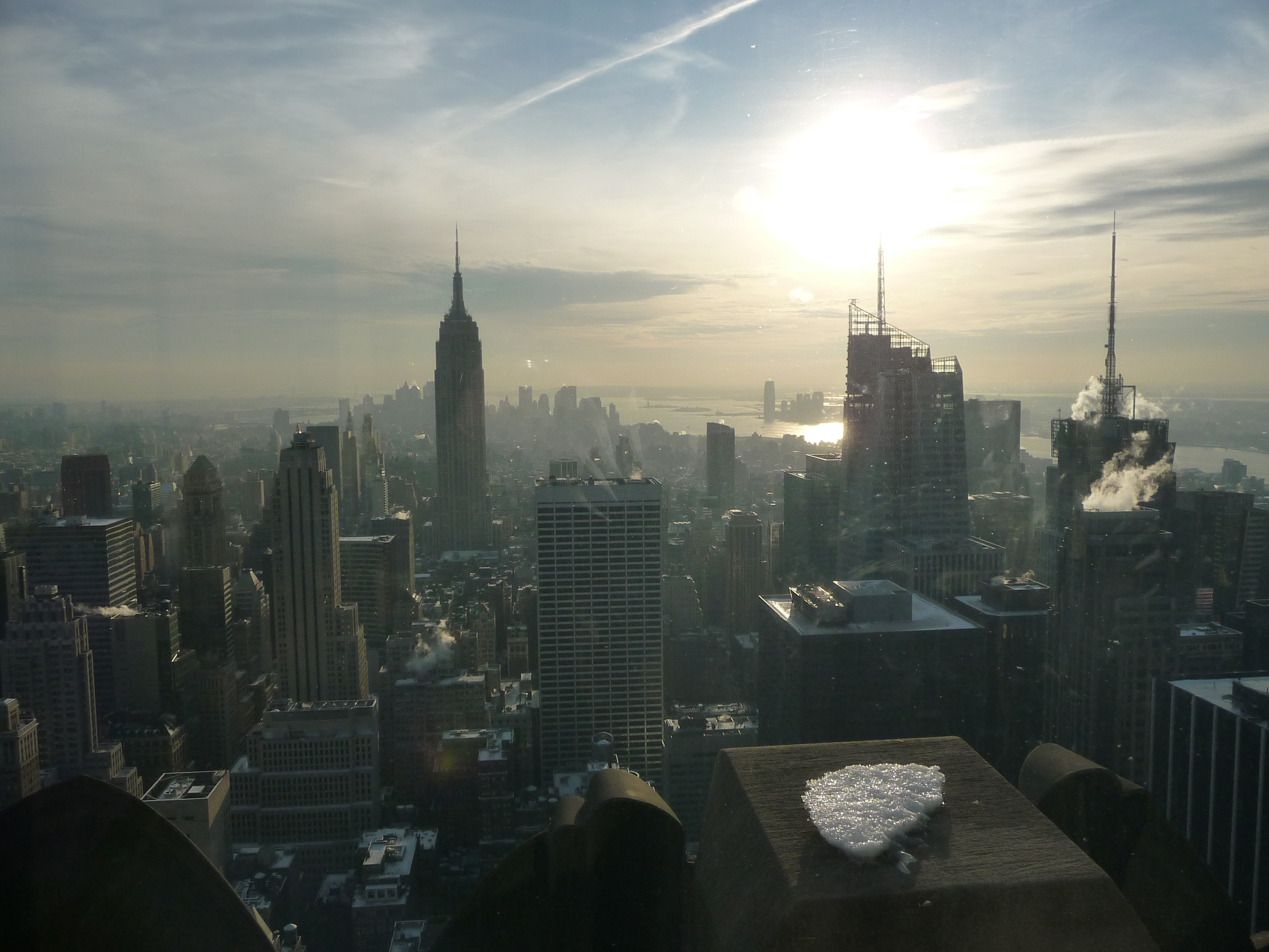Photo taken from the top of the Rockefeller Centre in New York City, U.S.A