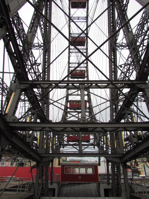 The Riesenrad was one of the earliest big wheels. It was built in 1897 to celebrate Emperor Franz Josef I's golden Jubilee, 
