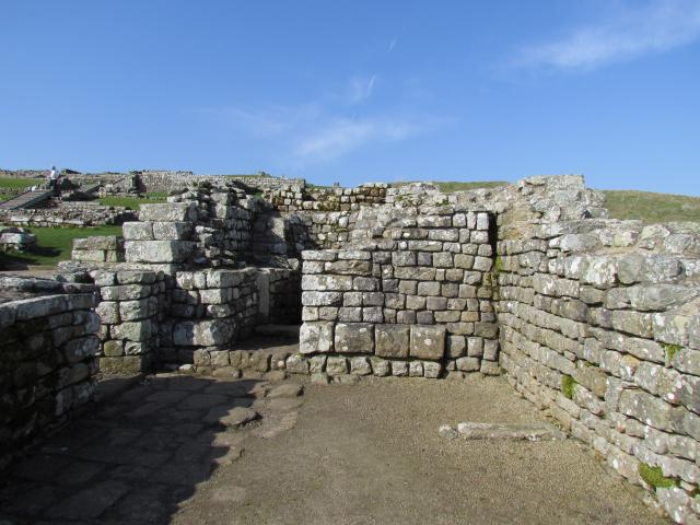 The original construction of Hadrian�s Wall took six years to complete. It was built around AD122. It has sixteen permanent bases, of which Housesteads Fort is one of the best preserved. The Fort was home to many soldiers and excavations at the fort revealed a turreted curtain wall, three ba...