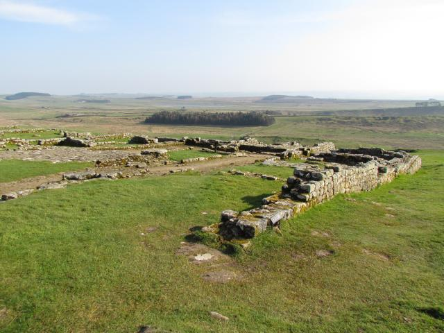 The original construction of Hadrian's Wall took six years to complete. It was built around AD122. It has sixteen permanent bases, of which Housesteads Fort is one of the best preserved. The Fort was home to many soldiers and excavations at the fort revealed a turreted curtain wall, three barrack ...