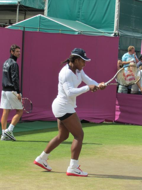 Venus Williams during warm up.