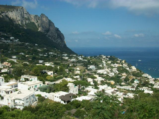 A view of Capri from the top of the Funicular railway.