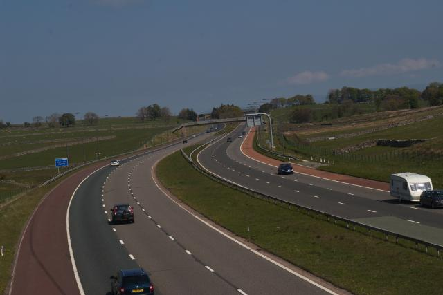 M6 South from foobridge near Shap