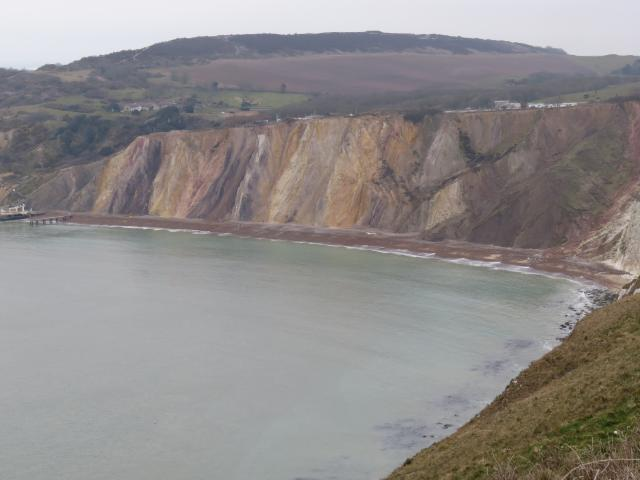 Alum Bay is famous for its natural multi-coloured sands. The sands have been collected and made into souvenirs since early Victorian times. Alum Bay is unique in having 21 recognised shades of colour.