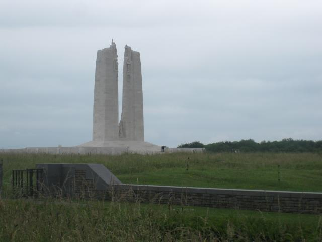 The Vimy Ridge memorial to the Canadian soldiers who died in World War I