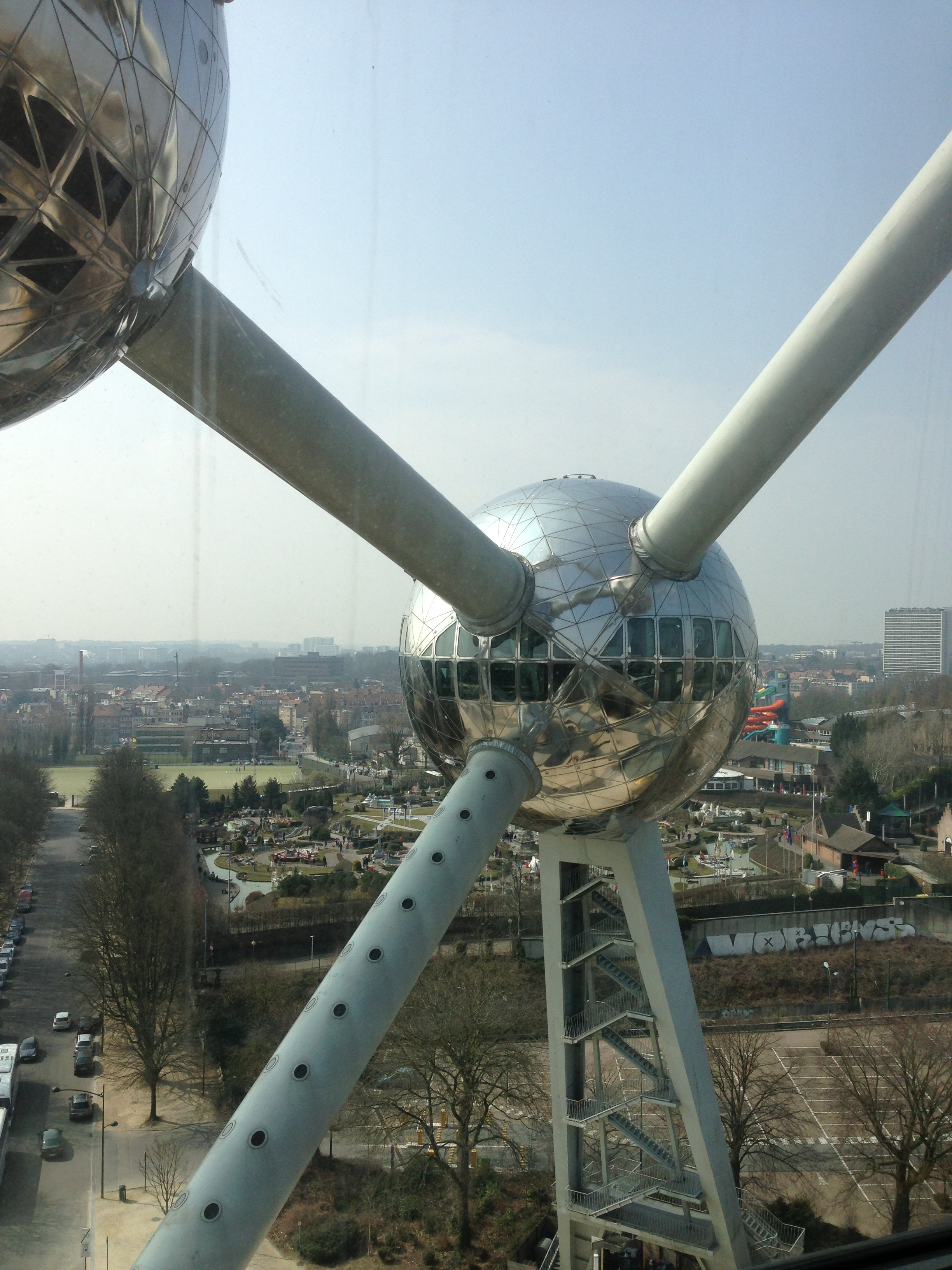 View from the Atomium building in Brussels, Belgium.