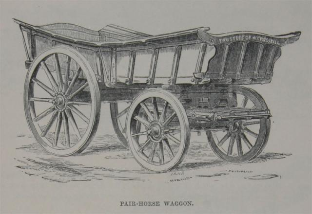 Crosskill's 'Pair-Horse Waggon' circa 1851, entered in the 1851 Great Exhibition.