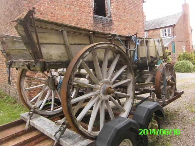 Crosskill's 'Pair-Horse Waggon' circa 1851, onwards. This type of heavy duty farm wagon was originally entered in the 1851 Great Exhibition.