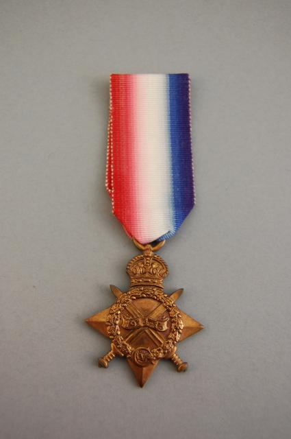 The 1914-15 Star. The medal given to all soldiers who fought in the years 1914 or 1915. 