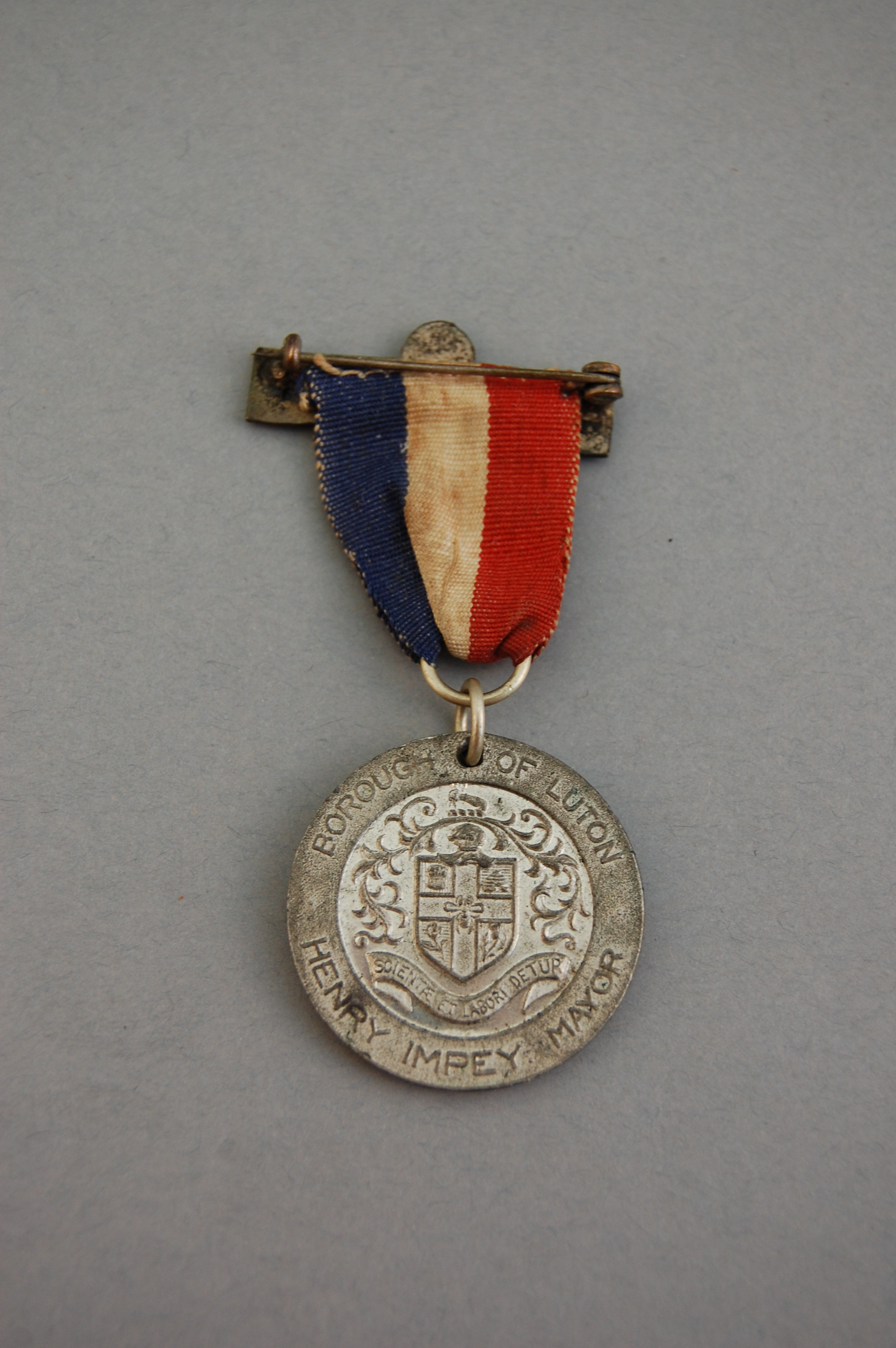 This medal was issued at the end of the war to Luton men who had served in the armed forces.