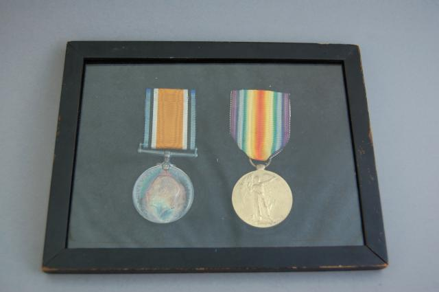 The British War Medal and the Victory Medal.