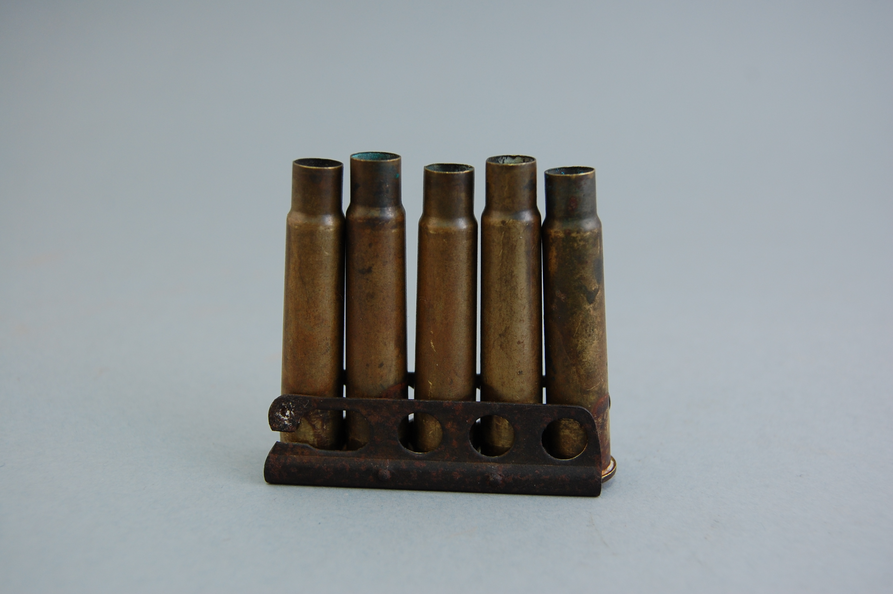 This is for the Lee Enfield rifle used by the British army, and was used to ensure rapid reloading.