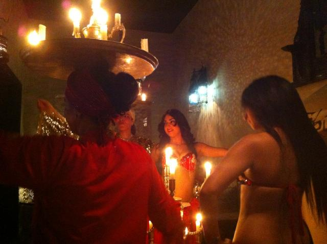 Traditional belly dancing in Morocco