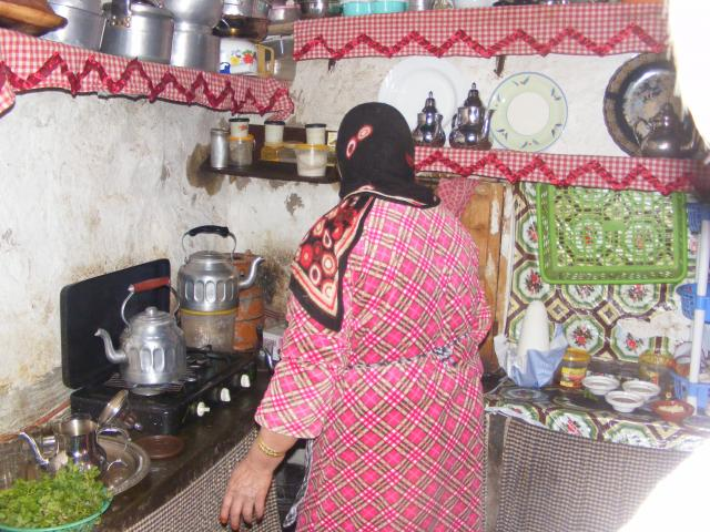 Inside a traditional Berber kitchen