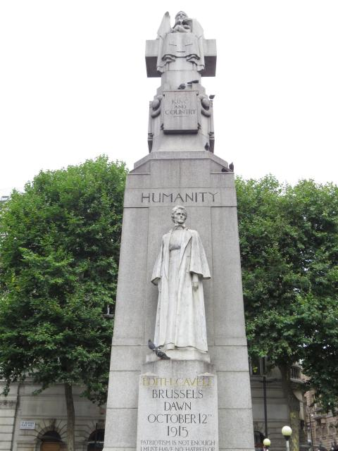 Nurse Edith Cavell (1865-1915) was shot at dawn in Brussels for helping allied soldiers escape to Holland in the early stages of World War I.