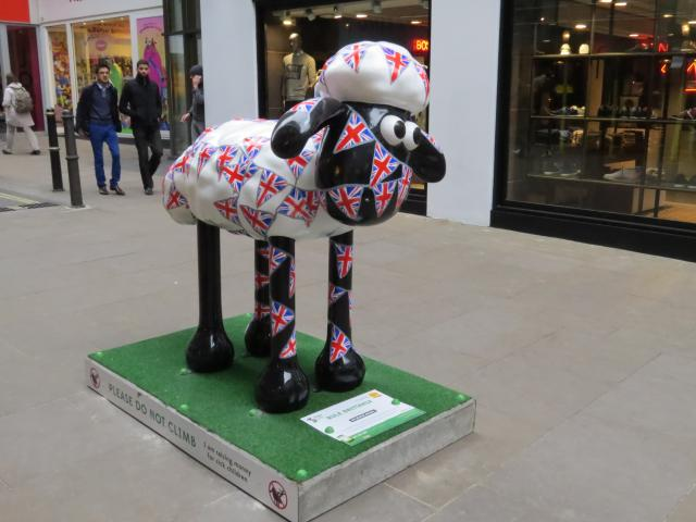 120 giant Shaun the Sheep sculptures, created by artists, designers and celebrities, are grazing green spaces and iconic locations across London and Bristol, before going to auction later in the year to raise funds for Wallace & Gromit�s Children�s Charity and The Grand Appeal, s...