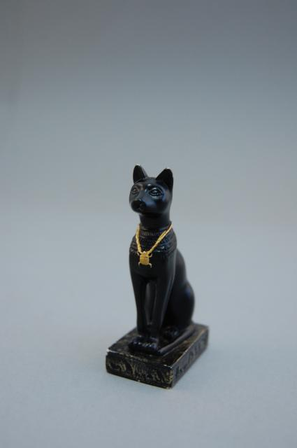 A replica statue of the goddess Bastet
