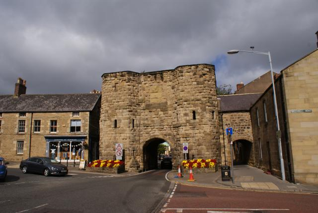 The entrance to the market area of Alnwick