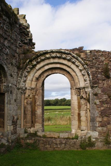 Haughmond Abbey ruins on Haughmond Hill east of Shrewsbury, Shropshire.