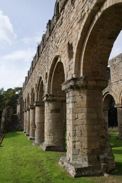 Buildwas Abbey ruins on the bank of the River Severn in Shropshire, near the Ironbridge.